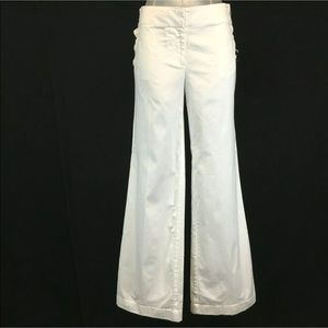 NEW Ann Taylor LOFT 10 Large Pant White Sailor NWT